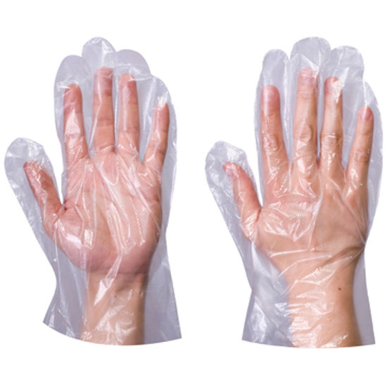 Picture of super touch Polythene gloves