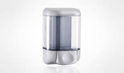 Liquid soap dispenser - to fill - capacity lt. 1 - a BUTTON Colors: Satin Dimensions ( mm): 205 x 112 x 128